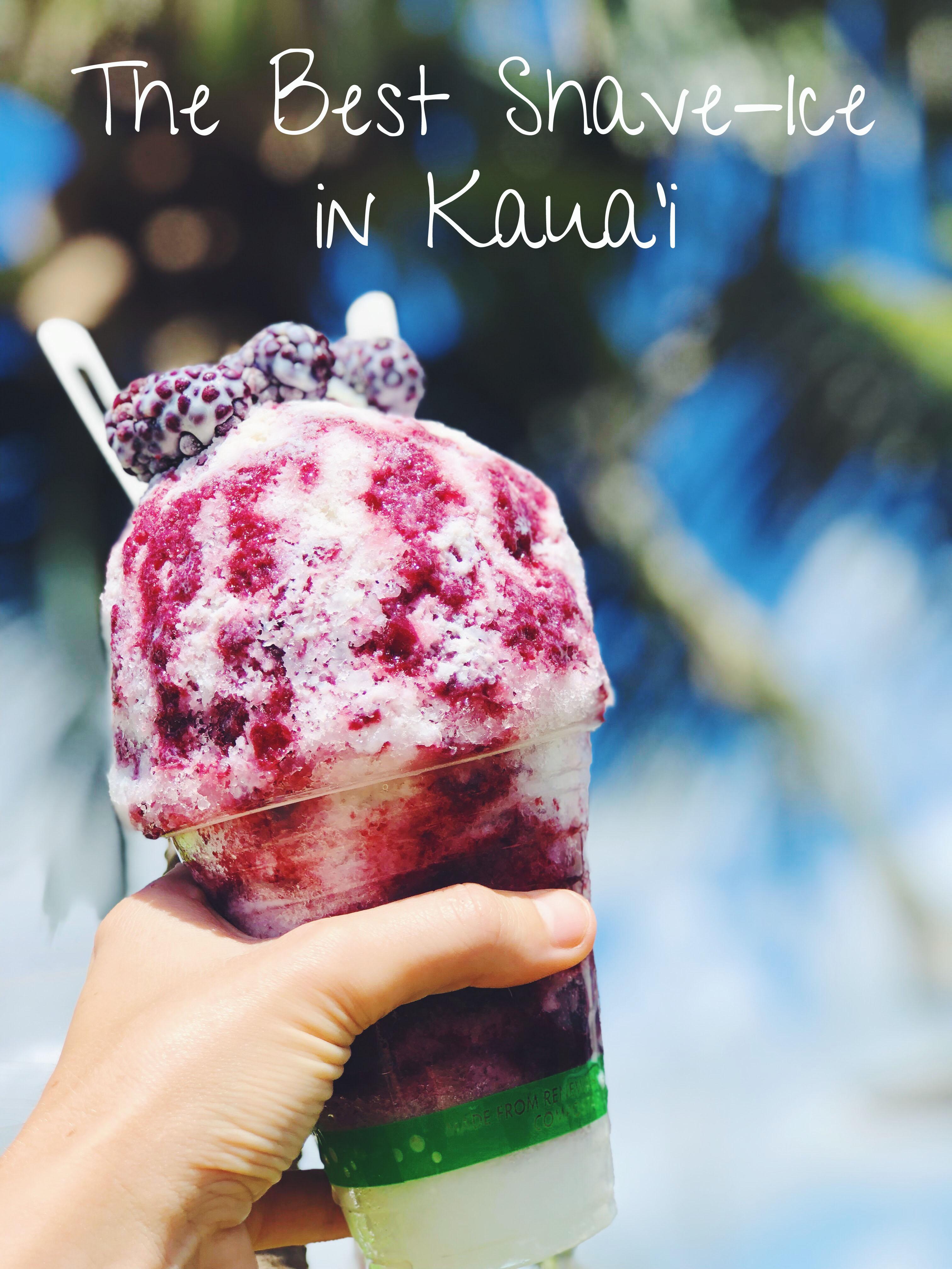 best shave-ice kaua'i